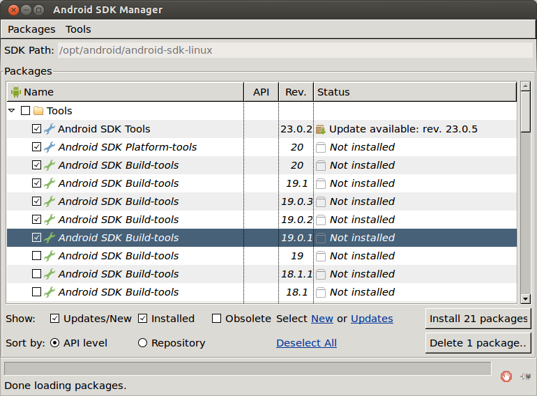 Android SDK Window