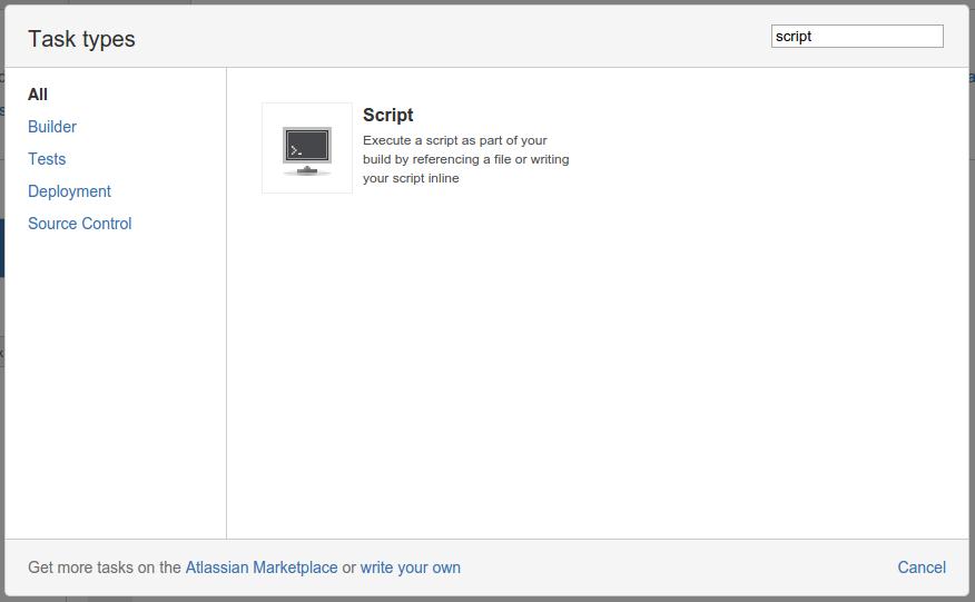 Bamboo Script Task