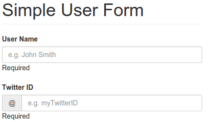 A Simple User Form with At